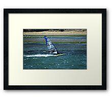 Flying Across Water Framed Print