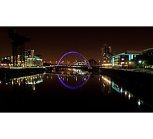 Clyde arc bridge at night Photographic Print