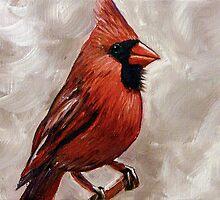 Red Cardinal Bird by Gayle Utter