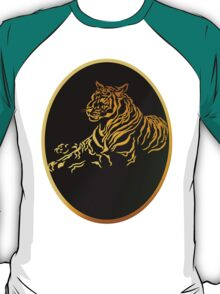 Framed Gold Tiger T-Shirt