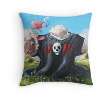 Sheep in Wolf's Clothing Throw Pillow