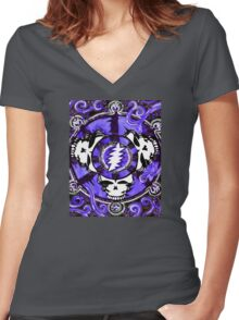 If the Thunder Don't Get ya Then The Lightin' Will - Design 1 Women's Fitted V-Neck T-Shirt