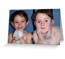 Bubble Bath Fun Greeting Card
