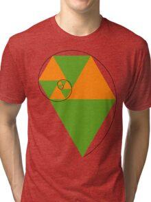 Fibonacci Spiral Tri-blend T-Shirt