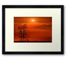 Country Sunset Framed Print