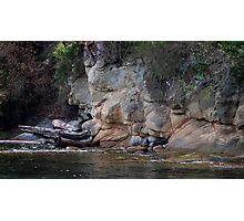 sandstone shoreline Photographic Print