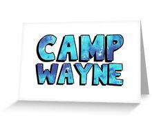 Camp Wayne Blue Galaxy Greeting Card