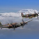 Spitfire And Blenheim Duxford  2015 - 3 by Colin  Williams Photography
