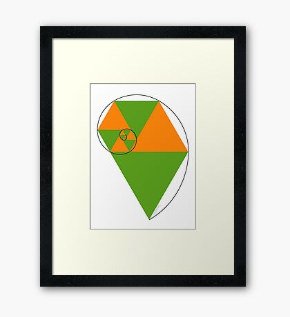 Fibonacci Spiral Framed Print