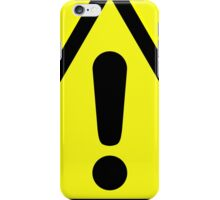 Warning sign. Exclamation mark in yellow triangle. iPhone Case/Skin