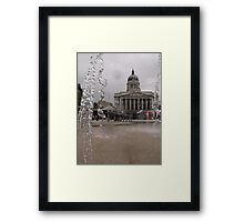 Through the fountain Framed Print