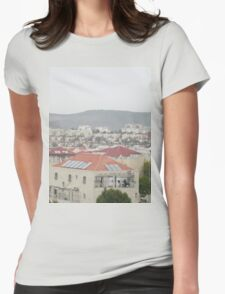 a historic Israel landscape Womens Fitted T-Shirt
