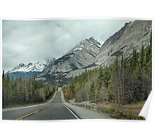 Driving through the Canadian Rockies Poster