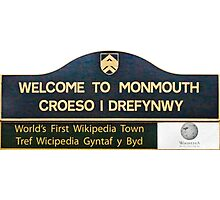 Welcome to Monmouth Photographic Print