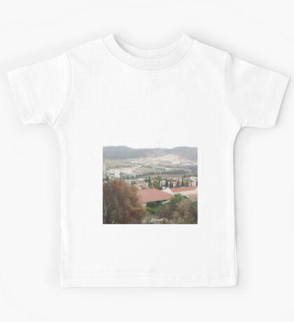 a large Israel landscape Kids Tee