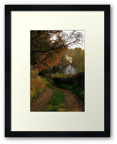 """Woodpit Cottage In Autumn"" by Bradley Shawn  Rabon"
