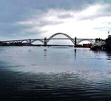 Yakima Bridge from Downtown Newport, Oregon by trueblvr