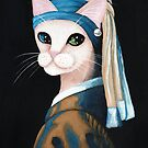 The Cat With the Pearl Earring by Ryan Conners