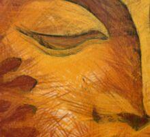 Orange Buddha Bliss Sticker