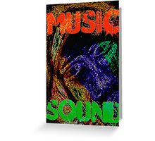 Music Sound Greeting Card