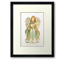 Angel Playing Music Framed Print
