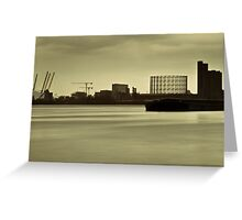 River Thames in winter at Greenwich Greeting Card