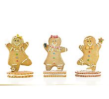 Three Gingerbread Cookies Photographic Print