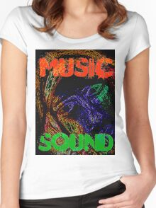 Music Sound Women's Fitted Scoop T-Shirt