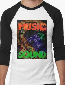 Music Sound Men's Baseball ¾ T-Shirt