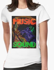 Music Sound Womens Fitted T-Shirt