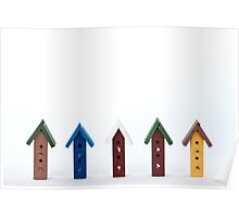 Bird House Frame Poster