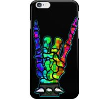 HEAVY METAL HAND SIGN - rainbow cubes iPhone Case/Skin