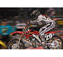 Blitzing the Phoenix Supercross Photographic Print