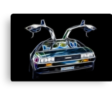 DeLorean Back Again... From the Past!!! Canvas Print
