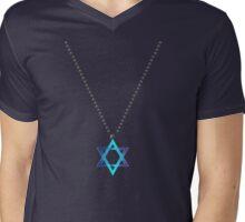 Star Of David Necklace Mens V-Neck T-Shirt