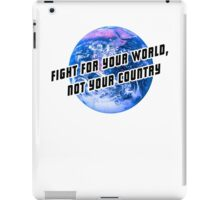 Fight for the world iPad Case/Skin