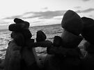Inuksuk black and white by Kayleigh Walmsley