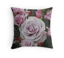 Roses in Rotorua Throw Pillow