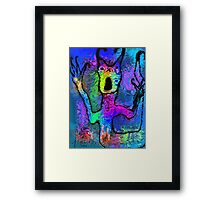 Behind The Glass Framed Print