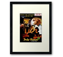 English Pointer Art - Pulp Fiction Movie Poster Framed Print
