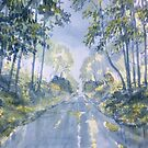 Wet Road, Woldgate by Glenn  Marshall