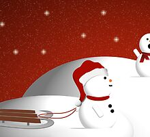 Snowman Sled by Sherrianne Talon