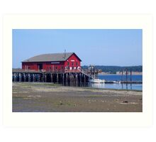 Inspiration at a Waterfront Pier, Whidbey Island Art Print