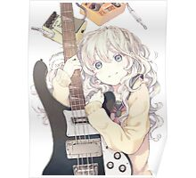Guitar Anime Girl Poster