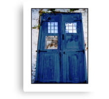 Tardis shed Canvas Print