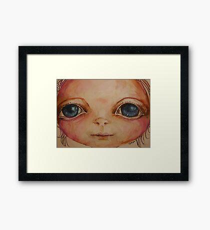 Little Blue Framed Print