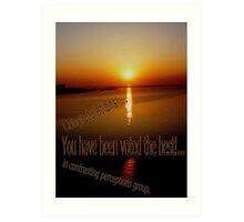 Sunrise Lakeshore (serie VI)!... Art Print