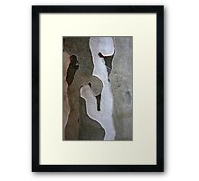 Figures in Bark Framed Print
