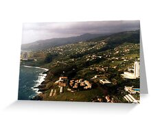 Madeira airport Greeting Card