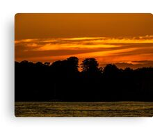 Sunset over Brownsea island  Canvas Print